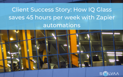 Client Success Story: How IQ Glass saves 45 hours per week with Zapier automations